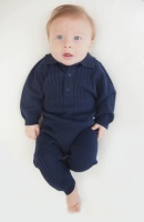 Brody Cable Knit Polo Tracksuit - Navy
