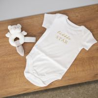 Bambino Baby Bodysuit & Rattle Set