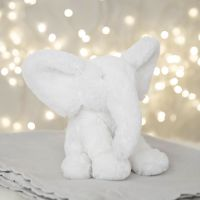 Bambino White Plush Elephant Medium 18cm