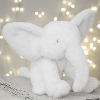Bambino White Plush Elephant Large 31cm