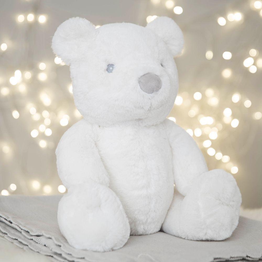 Bambino White Plush Bear Large 31cm