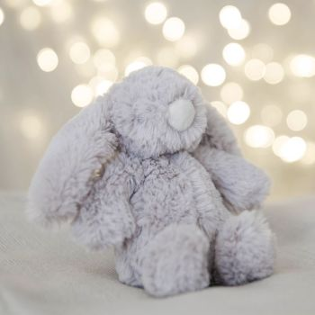 Bambino Grey Plush Rabbit Medium 18cm