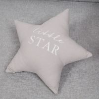 Bambino Little Star Grey Linen Cushion
