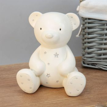 Bambino Resin Money Box - Teddy Bear