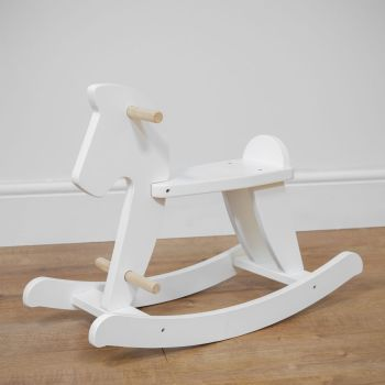 Bambino White Wooden Rocking Horse