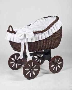 MJ Mark Bianca Tre Dark Crib - Spoke Wheels