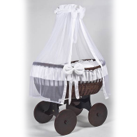 MJ Mark Ophelia Tre Dark Crib - Solid Wheels