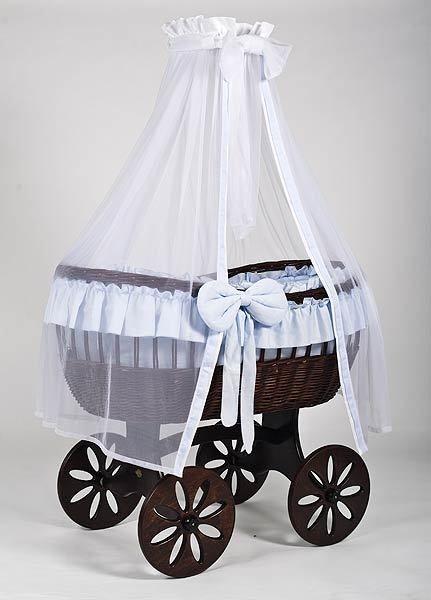 MJ Mark Ophelia Tre Dark Crib - Spoke Wheels