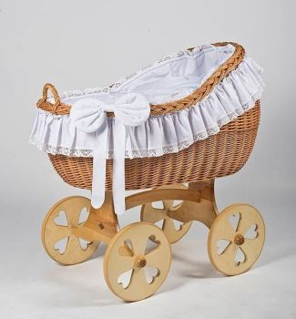 MJ Mark Bianca Uno Natural Crib - Heart Wheels