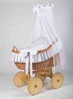 MJ Mark Bianca Uno Natural Crib - Solid Wheels