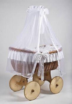 MJ Mark Ophelia Uno Natural Crib - Solid Wheels