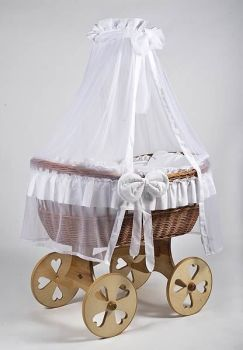 MJ Mark Ophelia Uno Natural Crib - Heart Wheels