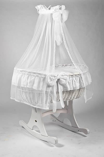 MJ Mark Ophelia Due White Crib - Rocker