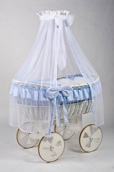 MJ Mark Ophelia Due White Crib - Heart Wheels