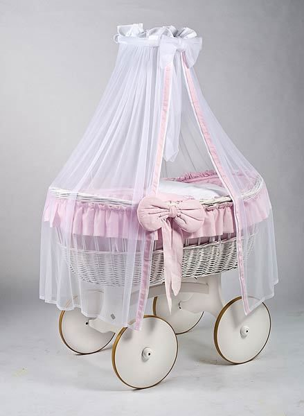 MJ Mark Ophelia Due White Crib - Solid Wheels