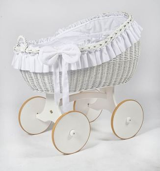 MJ Mark Bianca Due White Crib - Solid Wheels