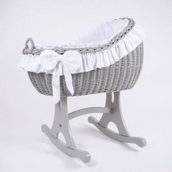 MJ Mark Bianca Quattro Grey Crib - Rocker