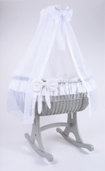 MJ Mark Ophelia Quattro Grey Crib - Rocker