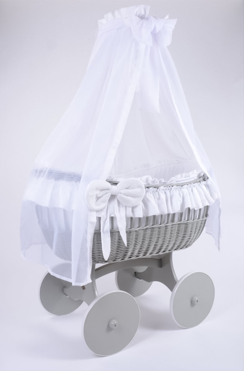 MJ Mark Ophelia Quattro Grey Crib - Solid Wheels
