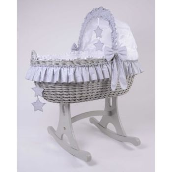 Mj Mark Cloud Quattro Grey Crib Grey Stars - Rocker