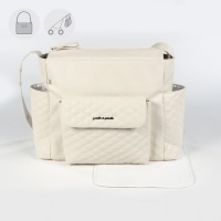 Pasito a Pasito INES Baby Changing Bag - Beige (52cm)