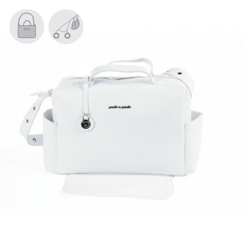 Pasito a Pasito BISCUIT Baby Changing Bag - White (54cm)