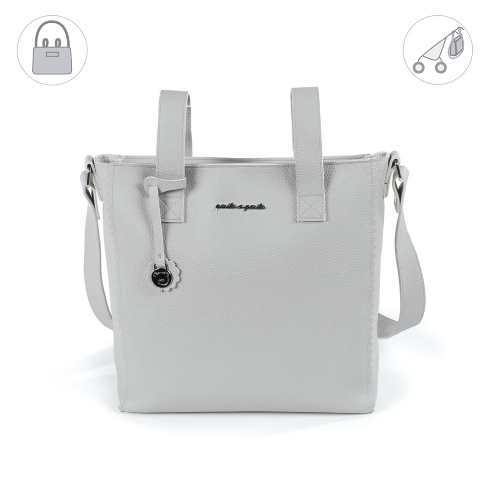 Pasito a Pasito BISCUIT Baby Changing Bag - Grey (42cm)