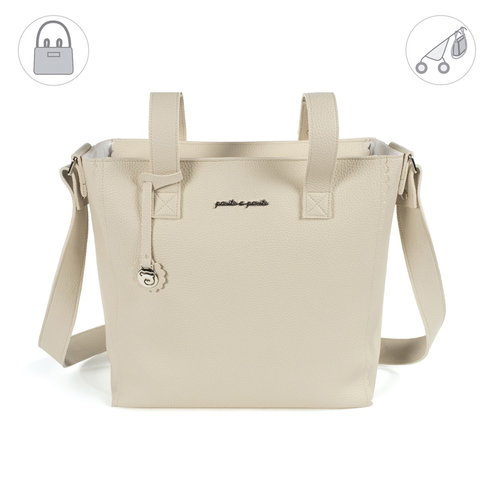 Pasito a Pasito BISCUIT Baby Changing Bag - Beige (35cm)