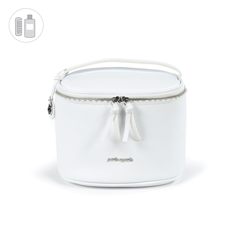Pasito a Pasito BISCUIT Vanity Bag - White
