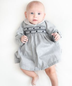 Dr Kid Grey Smocked Dress
