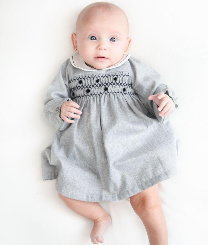 Dr Kid Grey Smocked Dress