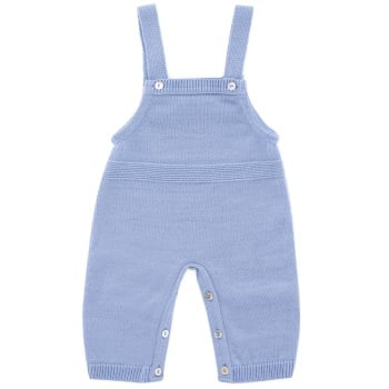 Fine Knit Dungaree - Blue