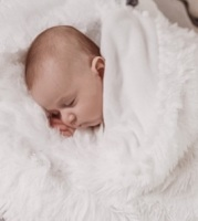 Bizzi Growin Koochicoo Fluffy Baby Blanket - White