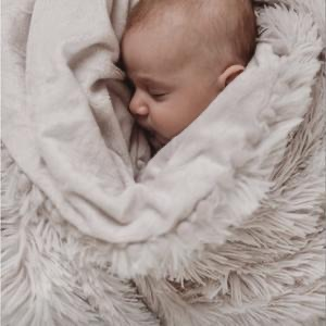 Bizzi Growin Koochicoo Fluffy Baby Blanket - Grey