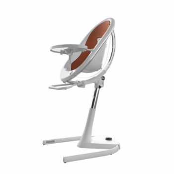 Mima Moon Highchair - White Frame/Camel Seat Pad