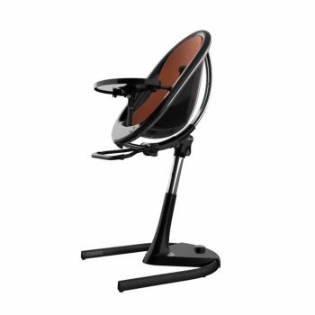 Mima Moon Highchair - Black Frame/Camel Seat Pad