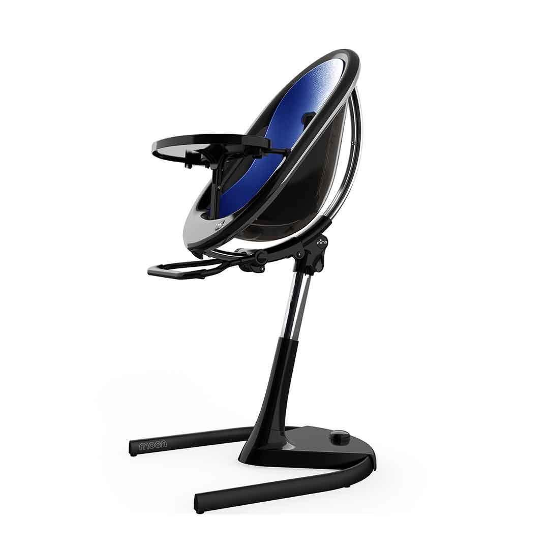 Mima Moon Highchair - Black Frame/Royal Blue Seat Pad