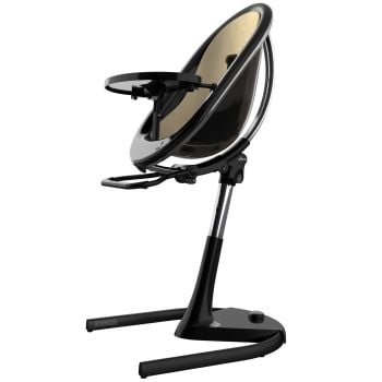 Mima Moon Highchair - Black Frame/Champagne Seat Pad