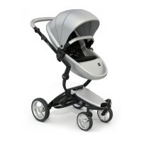 Mima Xari Pushchair - Argento + Black Frame