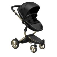 Mima Xari Pushchair - Black Flair + Champagne Frame