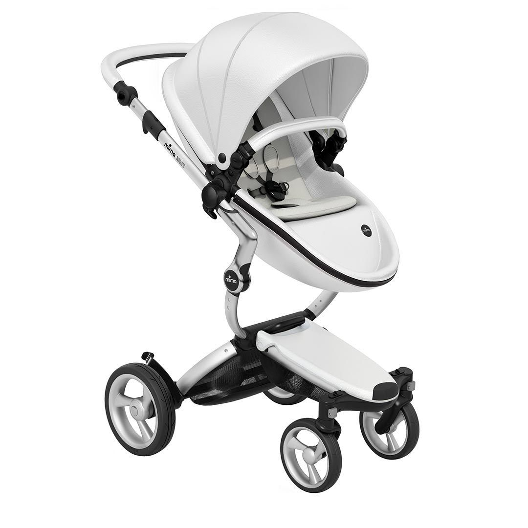 Mima Xari Pushchair - Snow White + Aluminium Frame