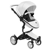 Mima Xari Pushchair - Snow White + Black Frame