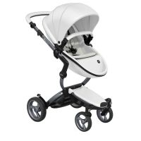 Mima Xari Pushchair - Snow White + Graphite Grey Frame