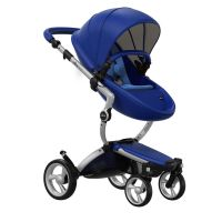 Mima Xari Pushchair - Royal Blue + Aluminium Frame
