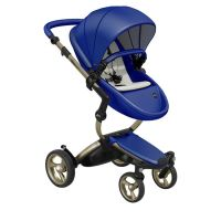 Mima Xari Pushchair - Royal Blue + Champagne Frame