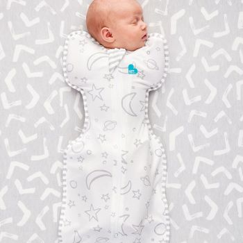 Love To Dream Swaddle Up Bamboo - 1 TOG - Ivory/Grey