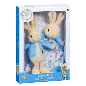 Peter Rabbit Rattle & Comforter Gift Set