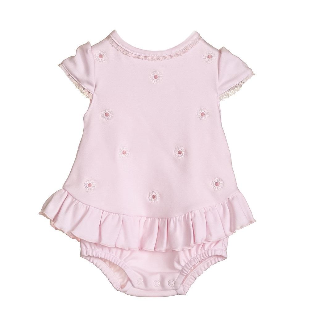 Blues Baby Daisy Frill Romper - Pink