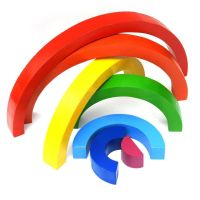 Wooden Rainbow 3D Stacking Puzzle