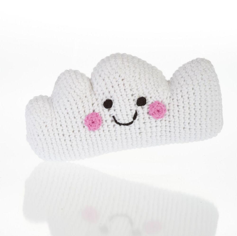 Fair Trade Crochet Cotton Cloud Rattle